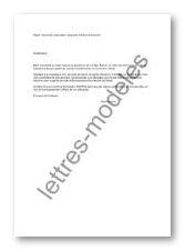 Modèle de lettre type - demande allocation garde d'enfant