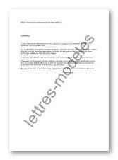 lettre de demande de remboursement de frais