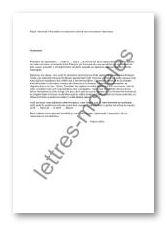 Modele Et Exemple De Lettres Type Demande D Inscription Au