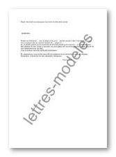 modele de lettre de detachement