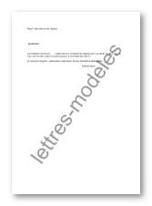 lettre demande de detachement