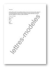 Modle Et Exemple De Lettres Type Mail