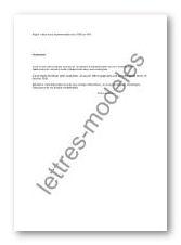 Modèle Et Exemple De Lettres Type Refus D Une