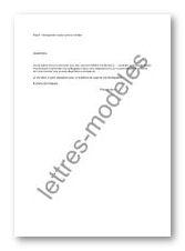 Modèle Et Exemple De Lettres Type Réintégration Après