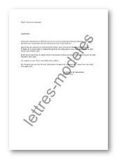 lettre rappel cotisation association