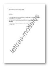 Mod le et exemple de lettres type r siliation du contrat de location du garage - Contrat de location de garage ...