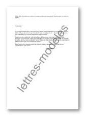 lettre aide financiere