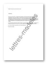 Modèle Et Exemple De Lettres Type Bruit Provenant Du