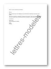 Modèle et exemple de lettres type : Mail - accusé de réception de candidature 2