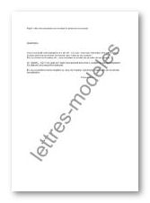Modele Et Exemple De Lettres Type Refus De Contestation Du Montant