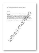Modele Et Exemple De Lettres Type Remboursement Taxe Additionnelle